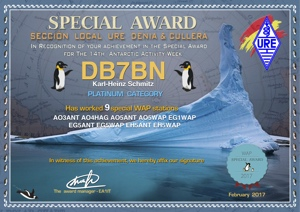 Special Award for the 14th Antarctic Activity Week (2017)