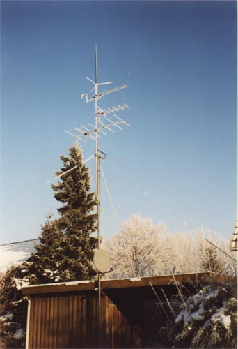 VHF/UHF areals in the winter
