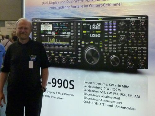 The new TS990S presented for the first time at the Ham Radio 2012